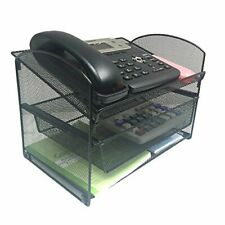 Vanra Metal Mesh Desktop Organizer Telephone Stand Phone Stand File Sorter Desk