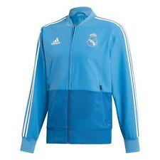 Real Madrid Training Woven Presentation Jacket Coat Top Blue Mens adidas