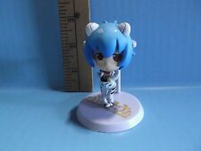"Evangelion School Rei Ayanami 2.5""in Figure Dressed in White/Black Plug Suit"