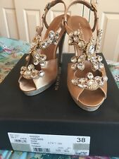 KG by Kurt Geiger Kassidy Shoes Size UK 5 EU 38 Very Rare Boxed Gold Silver prom
