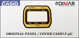 Vintage Casio Original Pannello / Cover For Casio F-5G
