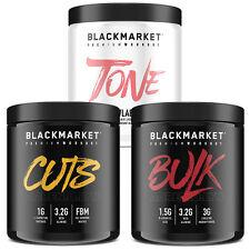 BLACKMARKET LABS (CUTS or TONE) preworkout fierce fit raw stim bulk daa recovery