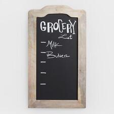 Rustic Farmhouse Chalkboard w/Wood Frame, Message Blackboard, Whitewashed Finish