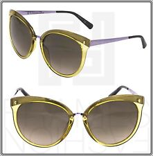 CHRISTIAN DIOR Frozen 1 Cat Eye Transparent Yellow Lilac Gradient Sunglasses