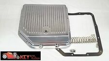Turbo 350 polished aluminum finned transmission pan TH350 bolts & gasket GM Chev