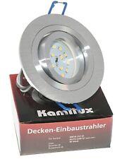 LED Einbau Strahler 60mm flach Decken Leuchten Lampen 230V 5W Set Rundi