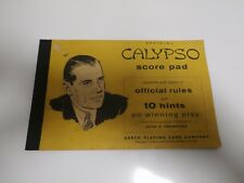 CALYPSO SCORE PAD WITH OFFICIAL RULES ADN 10 HINTS-ARRCO PLAYING CARD COMPANY