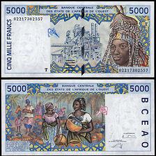 WEST AFRICAN STATES 5000 FRANCS (P813Tk) N. D. (2002) TOGO UNC