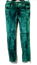 Zara Trf Emerald Green Denim Pants