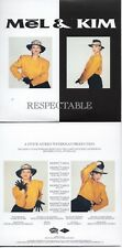 CD Single MEL & KIM - Stock Aitken Waterman - PWL	Respectable -  9-track CARD SL