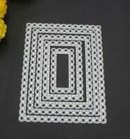 DIY Dies Making RectangleMetal Etched Card Stitched Cutting Scallop Nested Paper