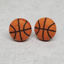 Basketball Fabric Stud Earrings