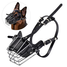 Pet Dog Mouth Breathable Adjustable Anti-Bite Metal Muzzle Protection Cover New
