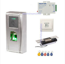 Outdoor Waterproof Fingerprint RFID Secure Entry Systems with ANSI Strike Lock