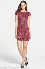 Vestiti da donna rosso in misto cotone con girocollo