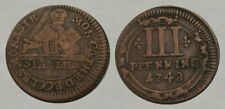 ☆ SPECTACULAR !! ☆ 1748 Colonial Era Coin !! ☆ Good Details !!