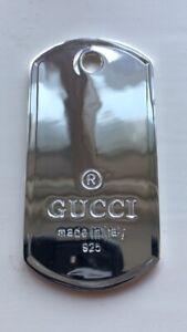 Gucci Dog Tag Pendant