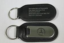 Mercedes-Benz Genuine Leather & Chrome Keyring/Keyfob/keytag Merc Mercedes