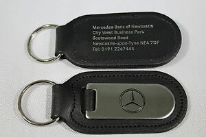 Mercedes-Benz Genuine Leather & Chrome Keyring/Keyfob/keytag Merc Mercedes