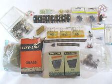 Model Railroad Train Diarama Supplies - Switches, Coal, Grass - Mixed Lot
