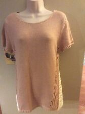 Anthropologie Moth Pink With Lace Overlay Size L
