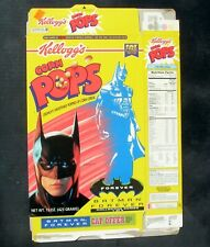 Kellogg's Corn Pops Flattened Cereal Box 1996 Batman Forever Cap