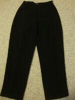 Women's TALBOTS Petites black rayon pants, 6