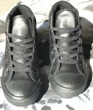 New Leather Converse Chuck Taylor All Star Youth Hi Top Sneaker Black Size 3