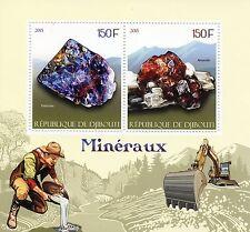 Djibouti 2015 MNH Minerals 2v S/S Pietersite Almandine Stamps