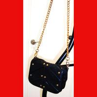 Badgley Mischka Michelle Leather Studded Mini Cross-Body Bag Black