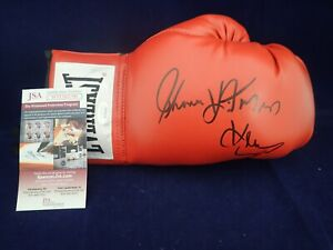 Thomas Hearns Signed Auto Everlast Boxing Glove W/ HIT MAN JSA - WIT503799