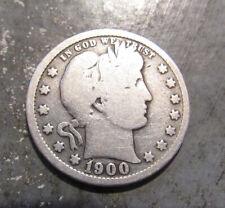 1900-S Silver Barber Quarter, Nice Detail