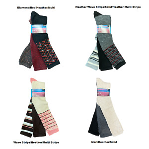 Hue Women's Super Soft Cozy Knit Tall Boot Stretch Knee High Socks, 3 Pack