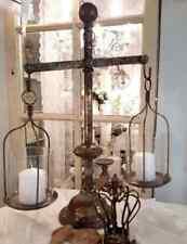 Windlicht Laterne Kerzenständer Metall Antikgold Shabby Vintage Landhaus Waage 1
