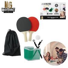 Jeu de Ping Pong Jeu Raquette Balles Mobile 2 Balles Filet Housse de Rangement