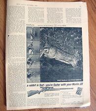 1961 Marlin 22 Rifle Gun Ad  Model 81 C Tubular Magazine