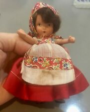 Vintage Nancy Ann Storybook Russian doll Judy Ann  molded socks