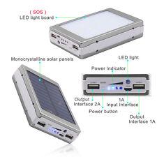 Portable Solar Power Bank 12000MAH bateria externa portatil Dual USB LED Externa