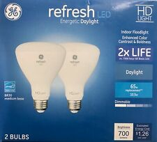 GE Refresh 65-Watt LED BR30 Daylight Dimmable Flood Light Light Bulb (2-Pack)