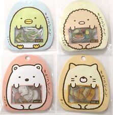 4 PKS SUMIKKO GURASHI KAWAII Stickers Flakes Bag Sack Tonkatsu Kappa Cat SAN-X