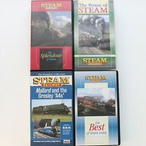 Steam Railway VHS video tapes collection 4X steam train