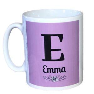 Personalised Girls Initial And Name Mug. Mugs For A Girls Birthday Or Christmas