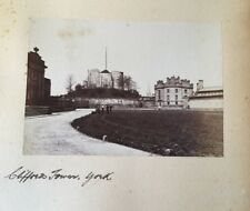 c1880 - Clifford's Tower, York.  Original Photograph.