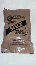 MRE U.S RATION PACK MENU 13-VEGETARIAN,CAMPING,HIKING,FISHING,AIRSOFT,SURVIVAL