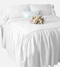 "1000 TC Egyptian Cotton 30"" Inch Dust Ruffle Bed Skirt With pillow Shams Colors"