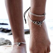 Silver Starfish Charm Women Retro Jewelry Barefoot Ankle Bracelet Foot Leg Chain
