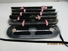 60 mts black velvet ribbon/tape/braid 1 cm wide not raw edged