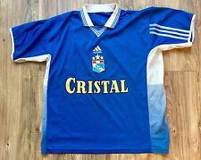 Vintage Adidas Sporting Cristal Soccer Futbol Jersey Peru #4 Large L EUC