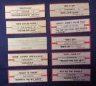 Lot of 10 Jukebox Tags 45 RPM Title Strips AEROSMITH  GENESIS & More #10-2