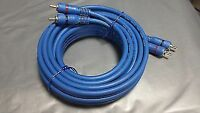 AUTOLEADS PC1-250 CAR AMP AMPLIFIER PRO RCA PHONO LEAD CABLE 5M METER SHIELDED